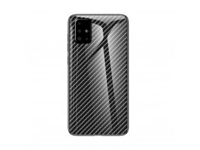 eng pl Case SAMSUNG GALAXY A51 Carbon Fiber Texture Tempered Glass PC TPU Combo Casing black 67674 1