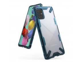 eng pl Ringke Fusion X durable PC Case with TPU Bumper for Samsung Galaxy A71 blue FUSG0040 56928 1
