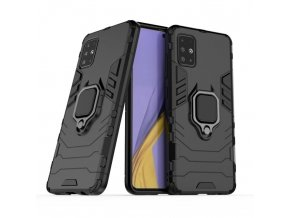 eng pl Ring Armor Case Kickstand Tough Rugged Cover for Samsung Galaxy A71 black 56587 1