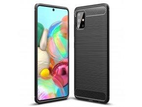 eng pl Carbon Case Flexible Cover TPU Case for Samsung Galaxy A71 black 56556 1