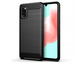 eng pl Carbon Case Flexible Cover TPU Case for Samsung Galaxy A41 black 59827 1 kopie