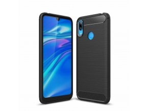 eng pl Carbon Case Flexible Cover TPU Case for Huawei Y6 2019 Huawei Y6s 2019 black 48408 1