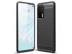 eng pl Carbon Case Flexible Cover TPU Case for Huawei P40 black 59741 1