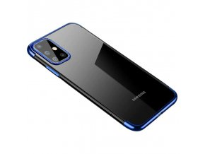 eng pl Clear Color Case Gel TPU Electroplating frame Cover for Samsung Galaxy A71 blue 59772 1