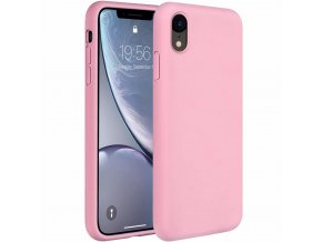 eng pl Silicone Case Soft Flexible Rubber Cover for iPhone XR pink 45451 1