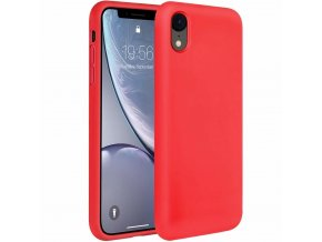 eng pl Silicone Case Soft Flexible Rubber Cover for iPhone XR red 45452 1
