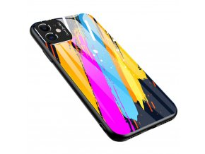 eng pl Color Glass Case Durable Cover with Tempered Glass Back and camera cover iPhone 11 pattern 3 57595 1