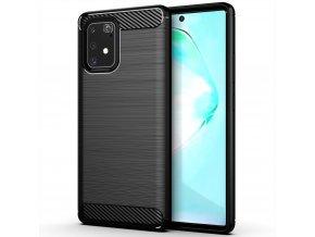 eng pl Carbon Case Flexible Cover TPU Case for Samsung Galaxy S10 Lite black 58676 1