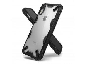 eng pl Ringke Fusion X durable PC Case with TPU Bumper for iPhone XR black FUAP0007 RPKG 43038 1 kopie