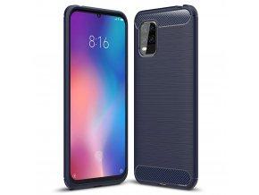 eng pl Carbon Case Flexible Cover TPU Case for Xiaomi Mi 10 Lite blue 60846 1