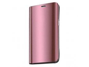 Clear View neoriginální pouzdro na Samsung Galaxy A41 - růžové