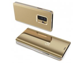Clear View neoriginální pouzdro na Samsung Galaxy A21s - zlaté