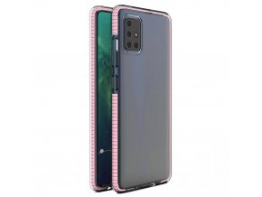 eng pl Spring Case clear TPU gel protective cover with colorful frame for Xiaomi Redmi Note 9 Pro Redmi Note 9S light pink 61315 1