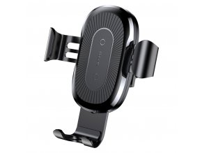 eng pl Baseus Wireless Charger Gravity Car Mount Phone Bracket Air Vent Holder Qi Charger black WXYL 01 37966 1