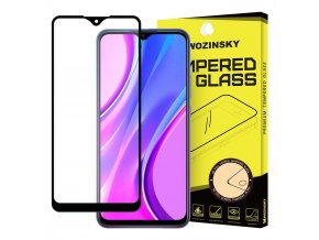 eng pl Wozinsky Tempered Glass Full Glue Super Tough Screen Protector Full Coveraged with Frame Case Friendly for Xiaomi Redmi 9 black 61835 1