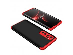 eng pl GKK 360 Protection Case Front and Back Case Full Body Cover Xiaomi Mi Note 10 Lite black red 62848 1