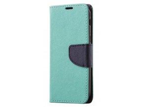 PU kožené pouzdro na iPhone SE 2020 / iPhone 8 / iPhone 7 - tyrkysové