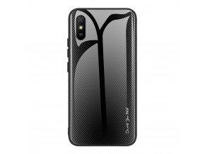 eng pl Case XIAOMI REDMI 9A Carbon Fibre Texture Glass Case black 70177 1