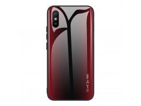 eng pl Case XIAOMI REDMI 9A Carbon Fibre Texture Glass Case red 70175 1