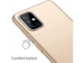 Matný Thin kryt na Xiaomi Redmi 9 - zlatý