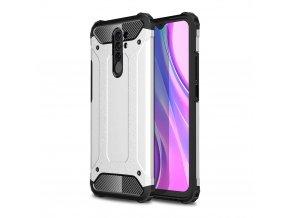eng pl Hybrid Armor Case Tough Rugged Cover for Xiaomi Redmi 9 silver 62855 1