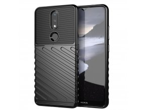 eng pl Thunder Case Flexible Tough Rugged Cover TPU Case for Nokia 2 4 black 65490 1