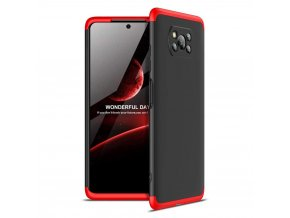 eng pl GKK 360 Protection Case Front and Back Case Full Body Cover Xiaomi Poco X3 NFC black red 63876 1