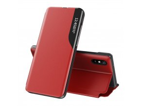 eng pl Eco Leather View Case elegant bookcase type case with kickstand for Xiaomi Redmi 9A red 63706 1