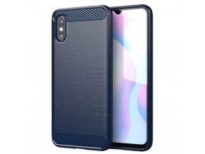 eng pl Carbon Case Flexible Cover TPU Case for Xiaomi Redmi 9A blue 62310 1