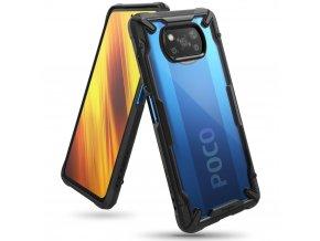 pol pl Ringke Fusion X etui pancerny pokrowiec z ramka Xiaomi Poco X3 NFC czarny FXXI0027 65572 1