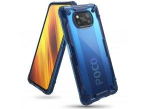 pol pl Ringke Fusion X etui pancerny pokrowiec z ramka Xiaomi Poco X3 NFC niebieski FXXI0028 65573 1