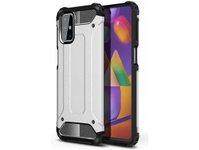 eng pl Hybrid Armor Case Tough Rugged Cover for Samsung Galaxy M31s silver 63854 1