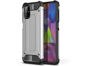 eng pl Hybrid Armor Case Tough Rugged Cover for Samsung Galaxy M51 silver 63846 1