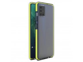 eng pl Spring Case clear TPU gel protective cover with colorful frame for Xiaomi Redmi Note 9 Pro Redmi Note 9S yellow 61319 1