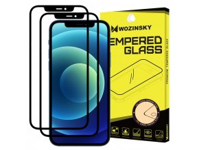 eng pl Wozinsky 2x Tempered Glass Full Glue Super Tough Screen Protector Full Coveraged with Frame Case Friendly for iPhone 12 Pro iPhone 12 black 65306 1