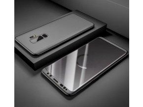 360 oboustranný kryt s TVRZENÝM SKLEM na Samsung Galaxy J6 2018 - černý