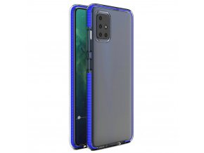 eng pl Spring Case clear TPU gel protective cover with colorful frame for Xiaomi Redmi Note 9 Pro Redmi Note 9S blue 61318 1