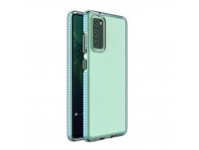 eng pl Spring Case clear TPU gel protective cover with colorful frame for Xiaomi Redmi Note 9 Pro Redmi Note 9S light blue 61317 1