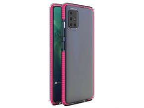 eng pl Spring Case clear TPU gel protective cover with colorful frame for Xiaomi Redmi Note 9 Pro Redmi Note 9S pink 61314 1