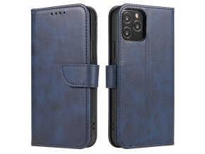 eng pl Magnet Case elegant bookcase type case with kickstand for Samsung Galaxy S21 5G S21 Plus 5G blue 66052 1