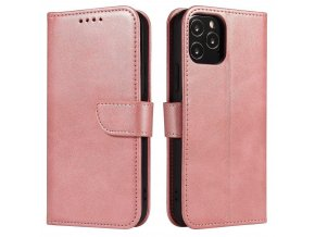eng pl Magnet Case elegant bookcase type case with kickstand for Samsung Galaxy S21 5G pink 66050 1
