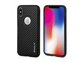 qult case luxury carbon apple iphone x xs black