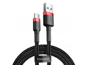 eng pl Baseus Cafule Cable Durable Nylon Braided Wire USB USB C QC3 0 3A 0 5M black red CATKLF A91 46793 1