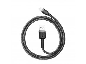 eng pl Baseus Cafule Cable Durable Nylon Braided Wire USB Lightning QC3 0 2 4A 0 5M black grey CALKLF AG1 46802 6