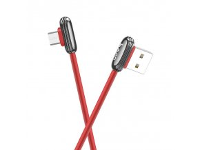 eng pl Angled cable Micro USB 2 4A 1 2M QUICK CHARGE HOCO U60 red 63283 1