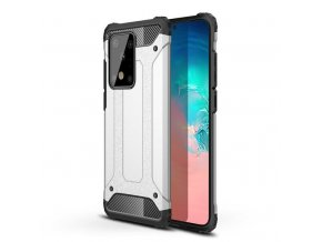 eng pl Hybrid Armor Case Tough Rugged Cover for Samsung Galaxy S20 Ultra silver 56268 1