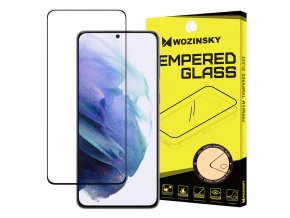 eng pl Wozinsky Tempered Glass Full Glue Super Tough Screen Protector Full Coveraged with Frame Case Friendly for Samsung Galaxy S21 5G black 67939 1