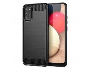 eng pl Carbon Case Flexible Cover TPU Case for Samsung Galaxy A02s black 67176 8