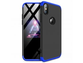 eng pl 360 Protection Front and Back Case Full Body Cover iPhone XR black blue logo hole 45689 1