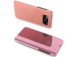 eng pl Clear View Case cover for Xiaomi Poco X3 NFC pink 65099 1